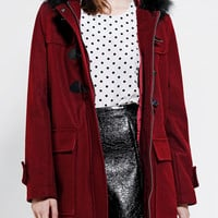 Pins And Needles  Faux Fur-Trim Duffle Coat - Urban Outfitters