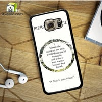 Pierce The Veil Song Lyrics Samsung Galaxy S6 Case by Avallen