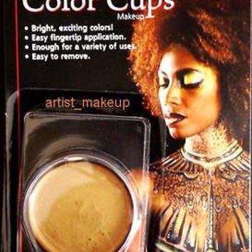 Mehron Gold Foundation Cream Face Paint 0.5 oz Costume Stage Theatrical makeup