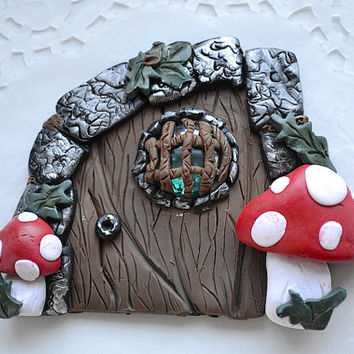 Fairy Portal - Fairy Door - Fairy House - Fairy Garden Kit - Polymer Clay Door - Gnome Door - Miniature Door - Fairy Garden Door - Doll Door