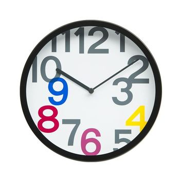 "10"" Bold Floating Numbers Wall Clock"