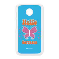 Sassy - Hello Gorgeous 10433 White Hard Plastic Case for Moto E by Sassy Slang