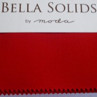 40% OFF! 100% Cotton Fabric for sewing & quilting, Moda Bella Solids RED, Fabric by the yard