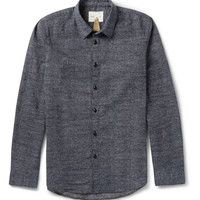 Folk - Slim-Fit Dot-Print Cotton Shirt | MR PORTER