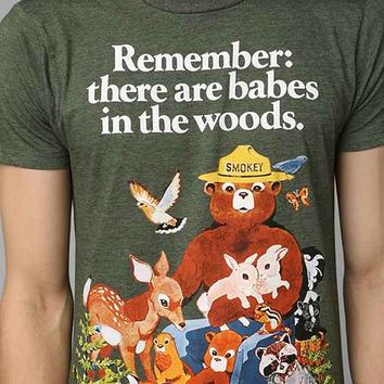 Smokey The Bear Tee- Green S