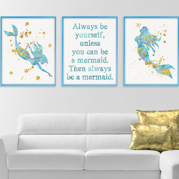 Mermaid Themed Baby Room March 2017