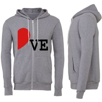 LOVE COUPLE ZIPPER HOODIE