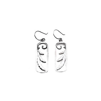 Love Letters Sterling Silver Rectangle Drop Earring