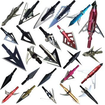 12ps/LotVariety of stainless steel arrow broadheads for hunting and archery  Apply to composite bow and crossbows and recoil