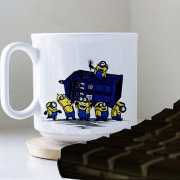 Minion Parodi DR WHO mug heppy mug coffee, mug tea, size 8,2 x 9,5 cm.