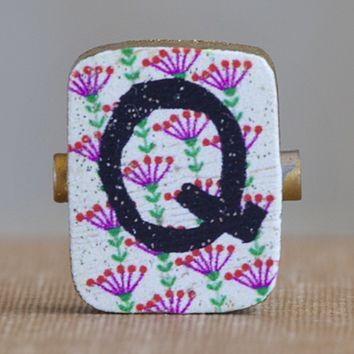 """""""Q""""  Gypsy  Girl  Letter  Magnet  From  Natural  Life"""