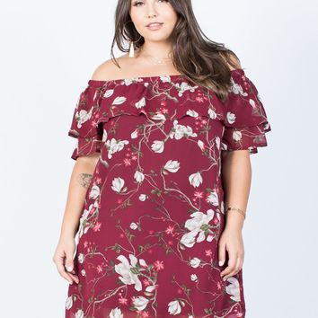 Plus Size Romantic Ruffled Dress