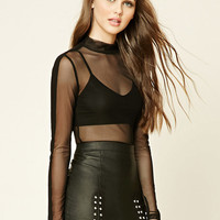 Contemporary Sheer Mesh Top