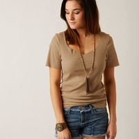 Gilded Intent Ribbed Top