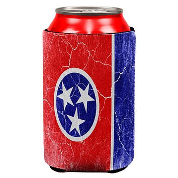 Tennessee Vintage Distressed State Flag All Over Can Cooler