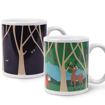 Kikkerland Design Inc » Products » Woodlands Morphing Mug