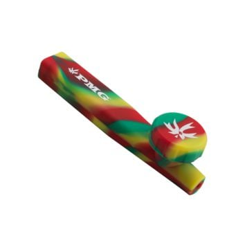PieceMaker Kazili Silicone Pipe with Lid - 6 Inches - Assorted Colors