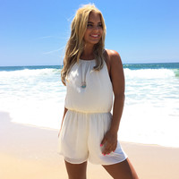 Most Wanted Romper In Ivory