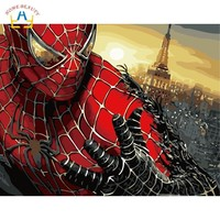 Spiderman nordic pictures draw by numbers wall art canvas paintings for living room home decoration hand painted gift W6800