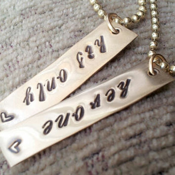 Couples Necklace, Couples Jewelry, His Hers Necklace, Necklace For Couples