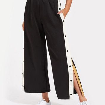 Snap Culotte Pants