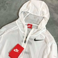 Nike Ultra thin sunscreen skin coat white and black A-A-CPFZPF