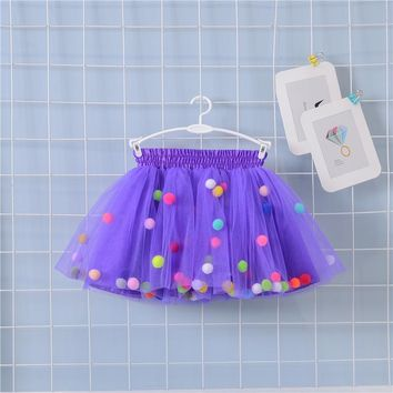 Baby Tutu Skirt Girls Summer Chiffon Party Dance Princess Tutu Fluffy Pettiskirt Tulle Ballet baby Skirts For Girls