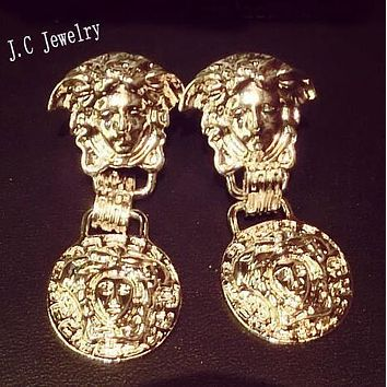 VERSACE Popular Women Retro Pendant Earrings Accessories Jewelry