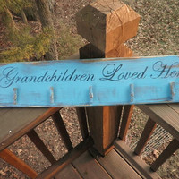 Grandchildren loved here wood sign, wood grandma sign, grandchildren sign, children sign