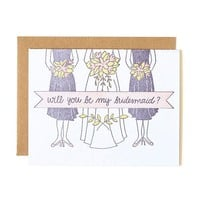 Bridesmaid Banner Card