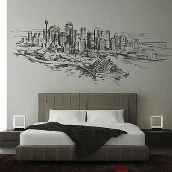 kik2535 Wall Decal Sticker Sydney Australia Opera House city of bedroom living room