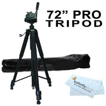 "72"" Tripod w/Case For The Canon EOS Rebel T5i, EOS SL1, T3i, EOS 600D, T3, EOS 1100D, Canon EOS 5D Mark III, EOS T4i (EOS 650D), Canon EOS M Compact DSLR Camera and Blackmagic Pocket Cinema Camera +"