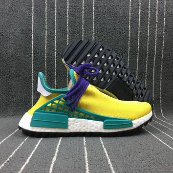 auguau Adidas Boost Nmd Human Race Yellow Women Men Fashion Trending Running Sneakers