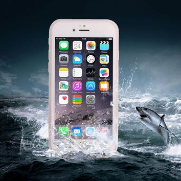 Waterproof Case For iphone 6 6S Plus Coolest Water Proof Swim Diving Transparent 360 Full Protective Front & Back Soft TPU Cover