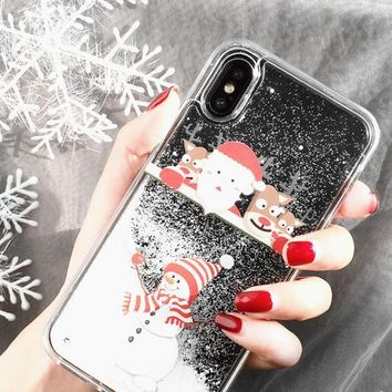 Christmas phone case shell  for iphone 6/6s,iphone 6p/6splus,iphone 7/8,iphone 7p/8plus, iphonex