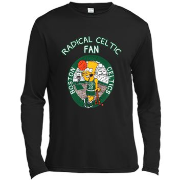 Vintage Bootleg Bart Simpson Radical Boston Celtics Fan T-shirt NBA Basketball Shirt