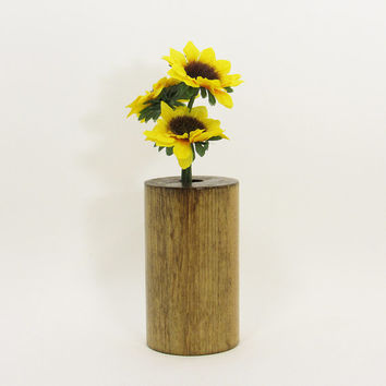 Wood Bud Vase, Wood Test Tube Vase, One Flower Vase, Wooden Bud Vase Centerpiece, Rustic Home, Home Decor