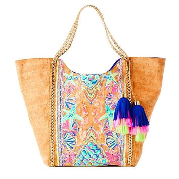 LILLY PULITZER Printed Cork Pool Tote Tote $149