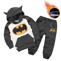 Children Clothing 2019 Autumn Winter Toddler Boys Clothes Batman Outfit Kids Clothes Suit Christmas Costume For Boy Clothing Set