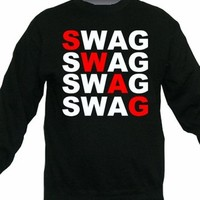 Swag Graphic Word Crewneck Sweater