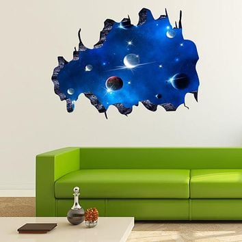 Creative 3D Deep Universe Galaxy Wall Stickers