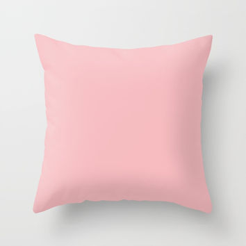 Soft Rose Pink Throw Pillow by carmenrayanderson