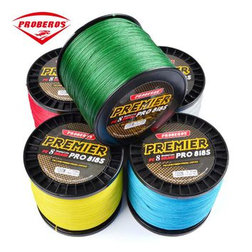 PRO BEROS 1000M PE Fishing Line 8 stands 8 Weaves High Quality Japan Braided Wire Available 40LB-300LB PE Line Yellow Package