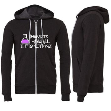 Chemists have all the solutions Zipper Hoodie