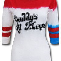 Hot Daddy's Lil Monster Baseball Style T-shirt Suicide Squad Harley Quinn Tops [9325954948]