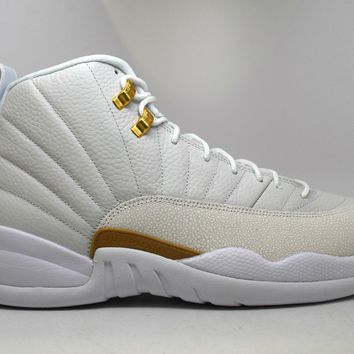 Air Jordan 12 Retro OVO White Basketball Shoes <>