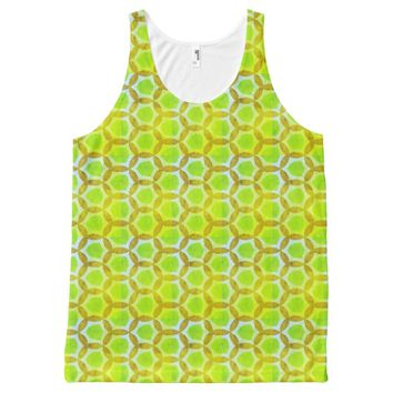 Limeade Time Lime Green All-Over-Print Tank Top
