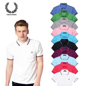 PEAP2Q hot sale fred perry men polo shirt 100 cotton top