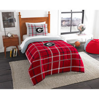 Georgia Bulldogs NCAA Twin Comforter Set (Soft & Cozy) (64 x 86)