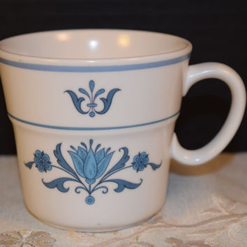 Noritake Progression Blue Haven 9004 Tea Cup Vintage Flat Cup Coffee Cup Blue Floral 1960s Noritake Replacement Cup Afternoon Tea Party